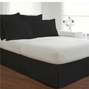 Queen bed skirt with two pillow cases